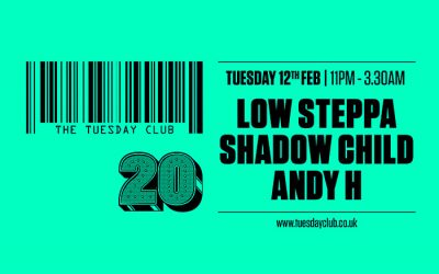 Tuesday 12th February: Shadow Child & Low Steppa