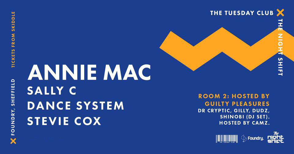 New Date – Friday 19 November 2021 : TTC x TNS: Annie Mac and more